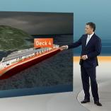 """Costa Concordia"", heute 19Uhr, 19.01.2012, Moderation Matthias Fornoff,  © ZDF"