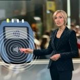 """kontakloses Bezahlen"", heute 19Uhr, 11.01.2012, Moderation Petra Gerster,  © ZDF"
