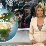 """Occupy"" heute journal, 15.10.2011 Moderation Marietta Slomka, © ZDF"
