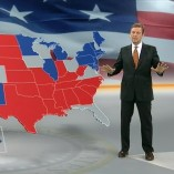 """Swing-States"", heute journal, 23.10.2012, Moderation Claus Kleber, © ZDF"