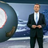 """Antarktis"", heute journal,08.10.2012, Moderation Claus Kleber, © ZDF"
