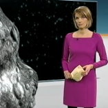 """Asteroid"", heute journal, 15.02.2013, Moderation Marietta Slomka, © ZDF"