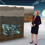 """Wasser unter Namibia"", heute journal, 22.08.2013, Moderation Marietta Slomka, © ZDF"