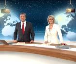 """""""Weihnachtsgruß"""", heute journal, 23.12.2013, Moderation Claus Kleber und Gundula Gause, © ZDF"""