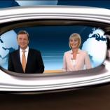 """""""Verabschiedung aus dem Nadelöhr"""", heute journal, 25.02.2014, Moderation Claus Kleber und Gundula Gause, © ZDF"""