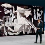 """Picasso Guernica"", heute journal, 18.04.2014, Moderation Claus Kleber, © ZDF"